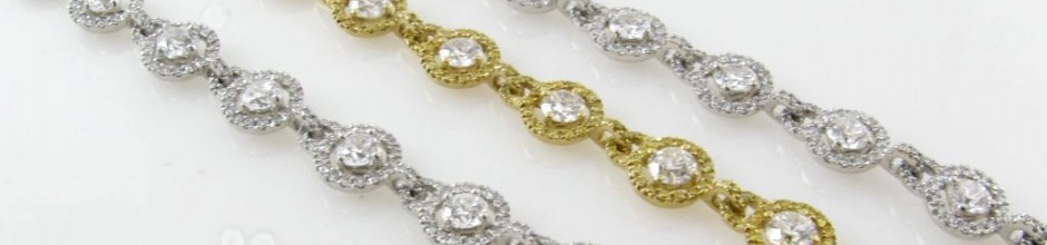We sell fine gold and diamond jewelry